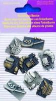 11810-4001 Scrapbook basics embellishments Brood, ontbijtje 2tot3cm metaal