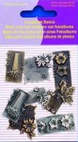 11810-4003 Scrapbook basics embellishments Bloementuin 2tot3cm metaal