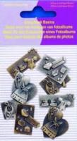 11810-4006 Scrapbook basics embellishments Baby girl 2tot3cm metaal