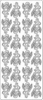 Stickervel Engeltjes all over 24 op 1 vel 1655