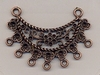 Ornament antiek koper/brons 3,5 x 5 cm