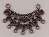 H&C11808-7133 Sieradenhanger /Ornament antiek koper/brons 3,5x5cm/2stuks