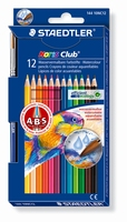 Staedtler14410NC12 Noris Club Aquarelpotloden 12st+penseel