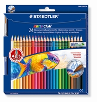 Staedtler14410NC24 Noris Club Aquarelpotloden 24st+penseel