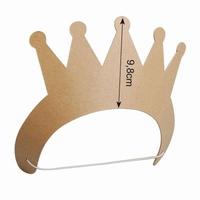 Prinsessen kroontje van stevig karton 16711-114 hoogte 9,8cm