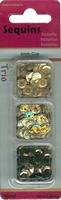 Paillettentrio facon Goud H&C Fun 12053-5303 6mm 3 x 4gram