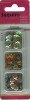 Paillettentrio facon Bruin H&C Fun 12053-5304 6mm 3 x 4gram