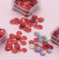 Paillettentrio facon Rood H&C Fun 12053-5306 6mm 3 x 4gram