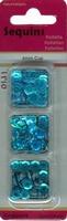 Paillettentrio facon Turquoise H&C Fun 12053-5307
