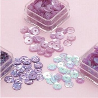 Paillettentrio facon Violet H&C Fun 12053-5311 6mm 3 x 4gram