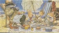 Servet Foxwood Tales: een dagje aan zee OP=OP 33x33cm/5stuks