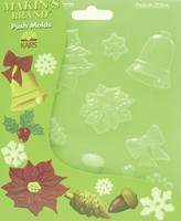 39008 Makin's Pushmold Christmas Nature 17,5 x 11,5 cm