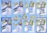 Quincy 3D knipvel Kerst landschap A4