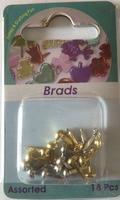 H&CFun 12058-5818 Splitpennen mini / Brads goud/zilver