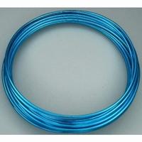 460102-23 Aluminium draad 2mm Blauw-Turqouise rond 5 meter