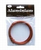 460102-240 Alumium draad rond 2mm Oranje 5 meter