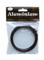460102-35 Aluminium draad rond 2mm Bruin-Brons