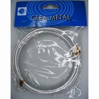 461004 Aluminium draad naturel dik rond 4mm/3 meter 4mm / 3 meter