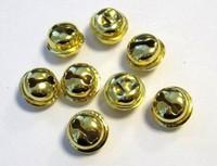 12242-4313 Kattebelletje 15mm goudkleurig 8 stuks