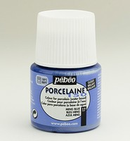 Pebeo porseleinverf: 017 Glossy Ming Blue flacon 45ml