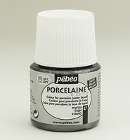 Pebeo Porseleinverf 45ml: 047 Metallic Pewter (loodkleur)