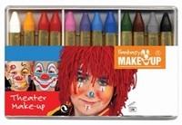 Schmink: 37052 Fantasy Theater Make Up schminkkrijtjes (12) set 12 kleuren