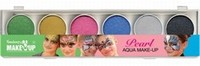 Schmink: 37072 Fantasy Aqua Make Up Express 6 Pearl kleuren