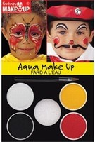 Schmink: 37084 Fantasy Aqua Make Up set Clown-Vlinder