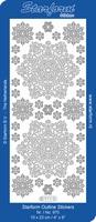 Stickervel Starform Sneeuwkristallen 15335