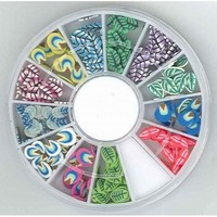 340000003 Nail Art Fimo embellishments Leaves