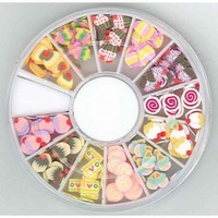 340000004 Nail Art Fimo embellishments Sweets