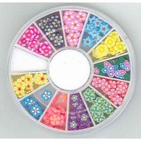 340000005 Nail Art Fimo embellishments Flowers