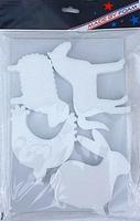 Styropor snijvormen set Boerderijdieren 4 figuren MBF016