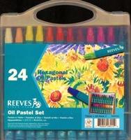 4880624 Reeves Oliepastel set van 24 stuks zeshoekig