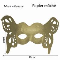 16711-129 Papier mache masker Vlinder breed 42x19cm