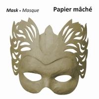 16711-131 Papier mache masker Vlammen 27 cm