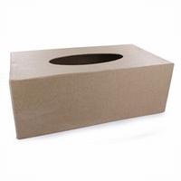 Papier mache doos; QXM129 kartonnen hoes voor een tisseudoos