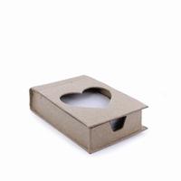 Papier mache doos; QXM096 doosje met memoblaadjes