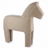 Papier mache Paard gestileerd groot, Dala paard QXM318