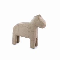 Papier mache Paard gestileerd Dalapaard klein QXM319 13x13x3,5cm