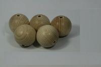 Houten kralen naturel beuken 2cm ca.40stuks 810100-0020