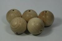 Houten kralen naturel beuken 2,5cm ca. 25 stuks 810100-0025