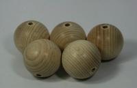 Houten kralen naturel beuken 3cm ca.15stuks 810100-0030