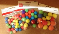 Wattenbollen gekleurd KP212663.309 25mm 15stuks ass.