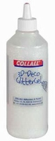 Collall/Colorall 3D Deco Glittergel DG107 Iriswit grote fles 500 ml