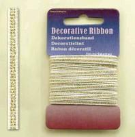 H&C Fun 12101-0111-Decorative Ribbon-lint 3mm Gold