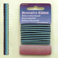 H&C Fun 12101-0112-Decorative Ribbon-lint 3mm Multi Green