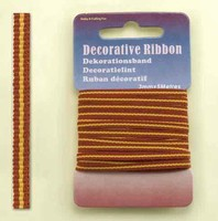 H&C Fun 12101-0114-Decorative Ribbon-lint 3mm Sunshine