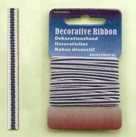 H&C Fun 12101-0115-Decorative Ribbon-lint 3mm Multi Pink
