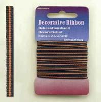 H&C Fun 12101-0116-Decorative Ribbon-lint 3mm Multi Orange